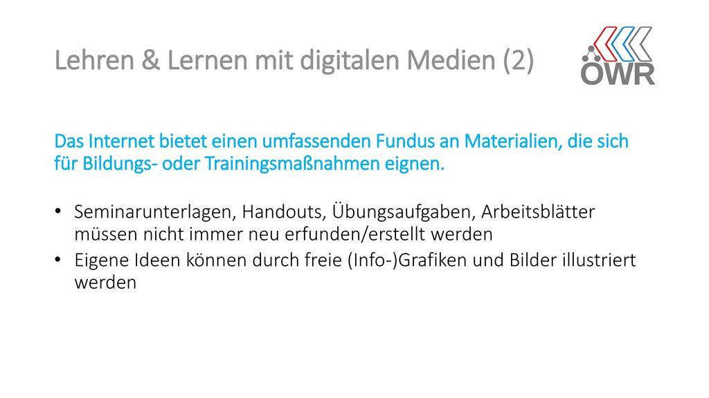 Lehren & Lernen mit digitalen Medien (2)