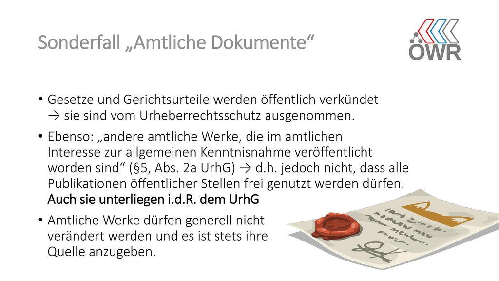 "Sonderfall ""Amtliche Dokumente"