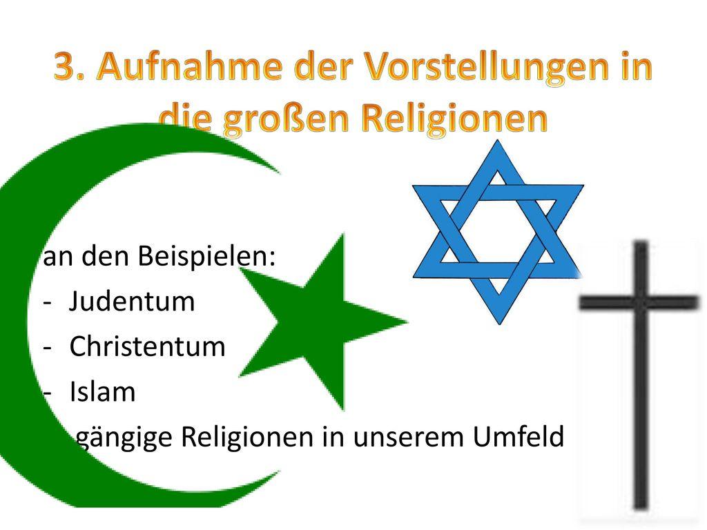 3. Aufnahme der Vorstellungen in die großen Religionen