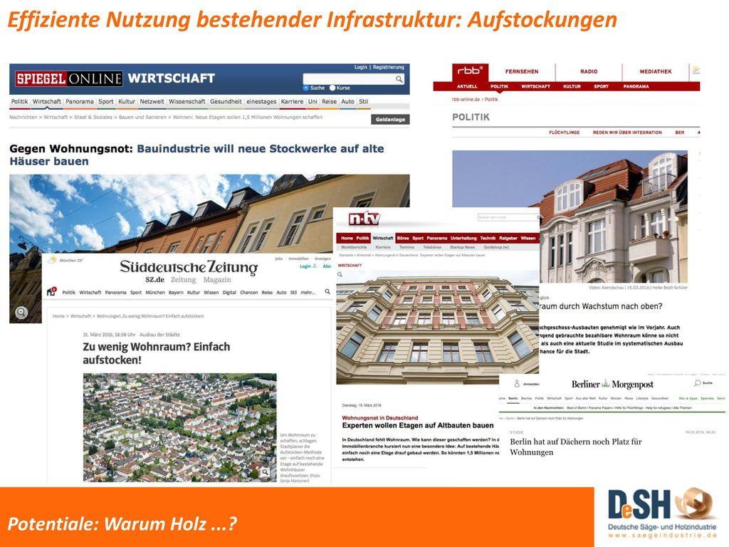 Effiziente Nutzung bestehender Infrastruktur: Aufstockungen ...