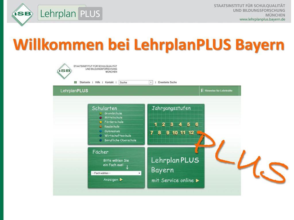 Willkommen bei LehrplanPLUS Bayern