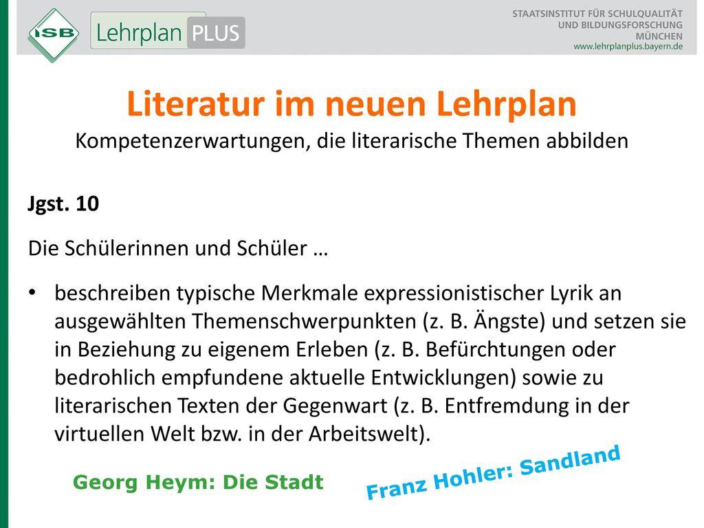 Literatur im neuen Lehrplan