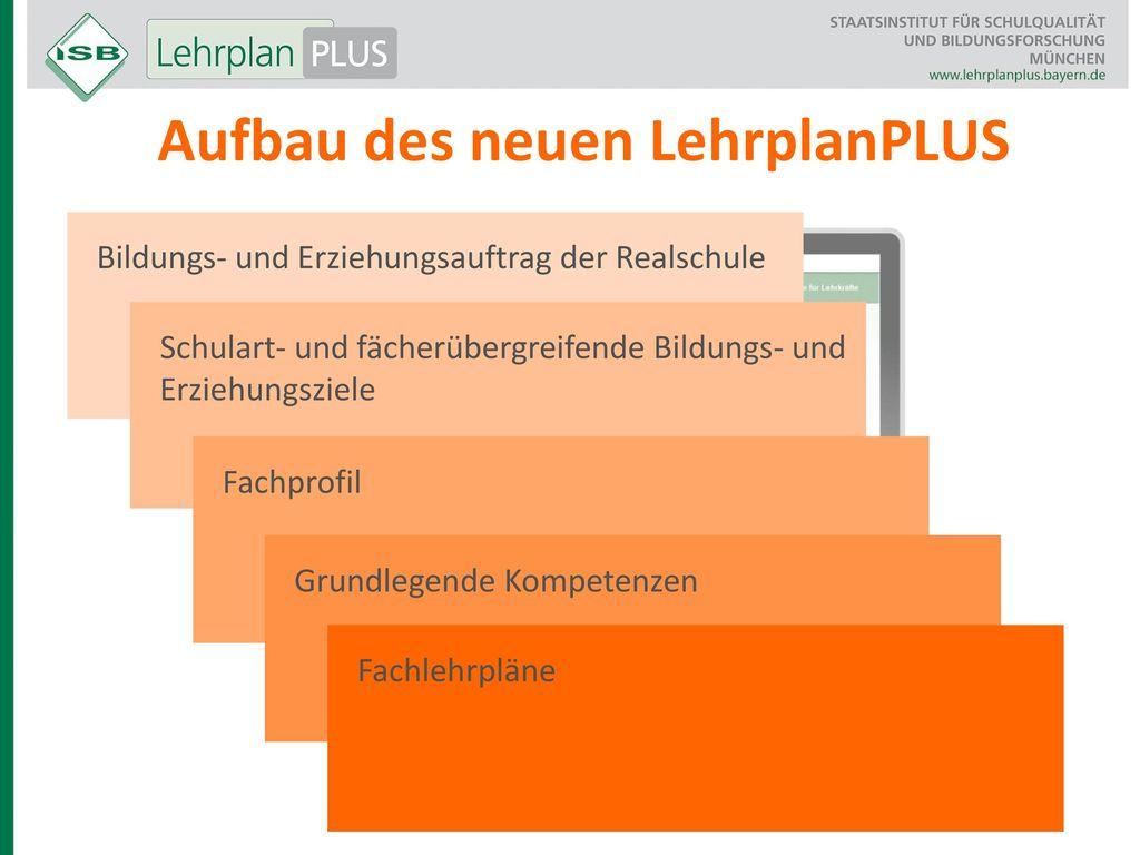 Aufbau des neuen LehrplanPLUS