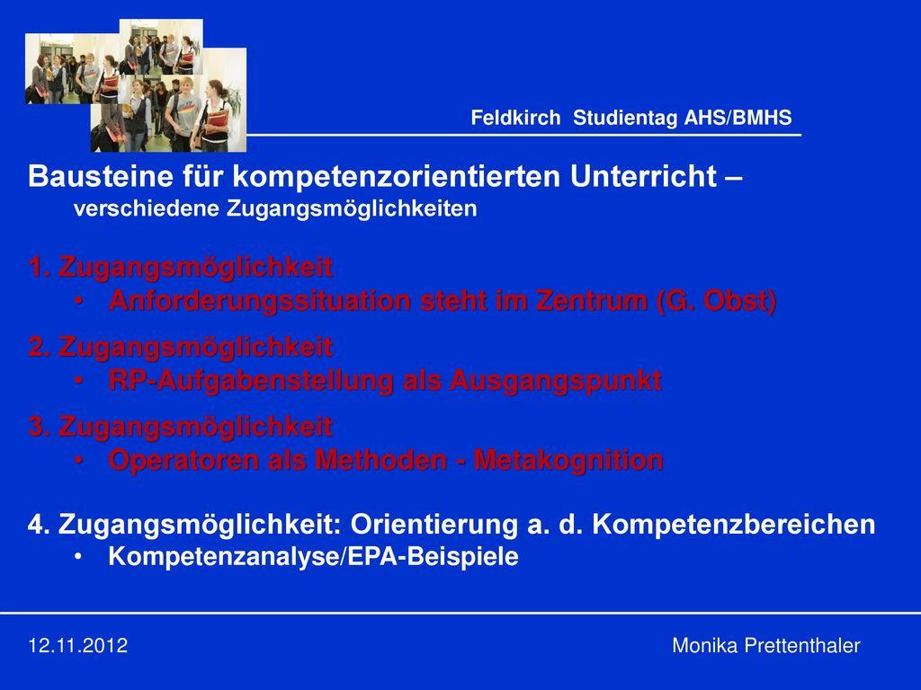 Feldkirch Studientag AHS/BMHS