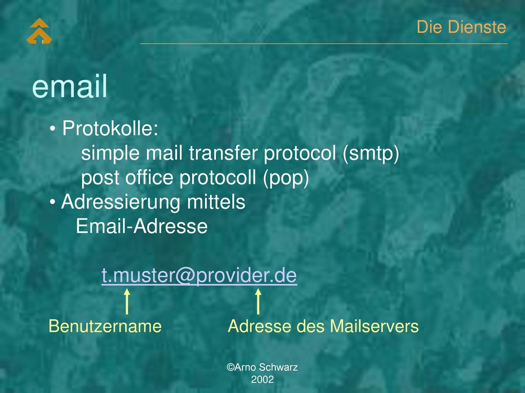 email Protokolle: simple mail transfer protocol (smtp)