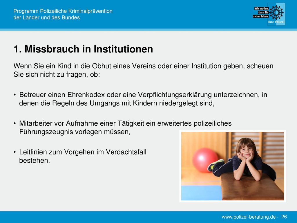 1. Missbrauch in Institutionen