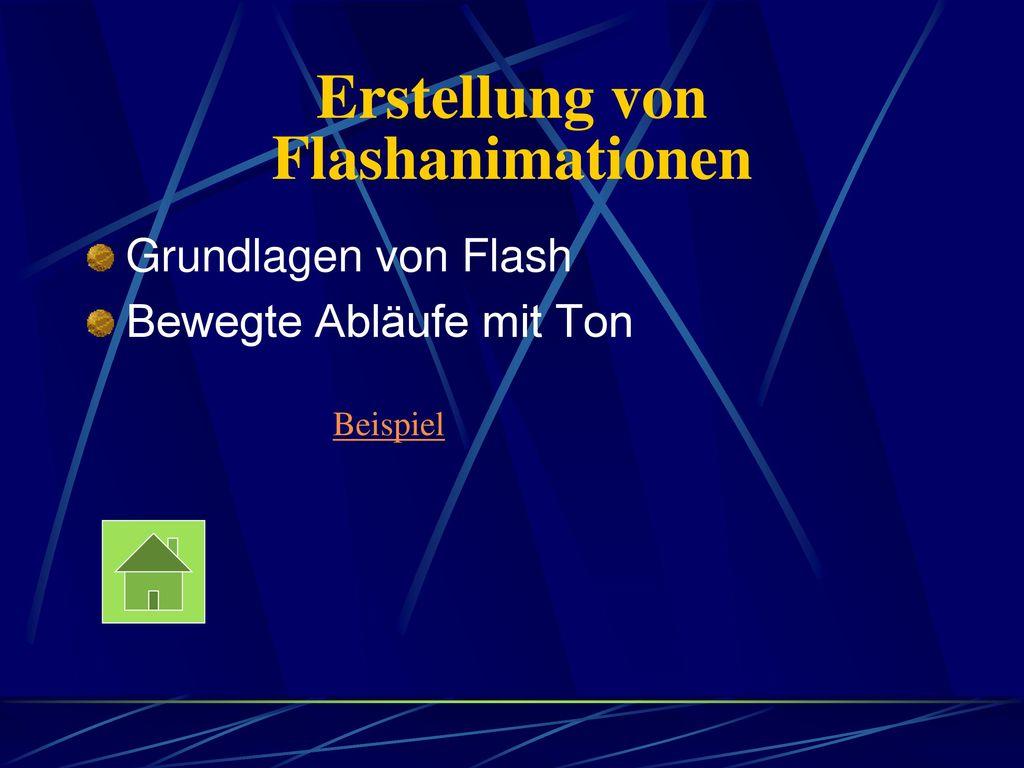 Erstellung von Flashanimationen