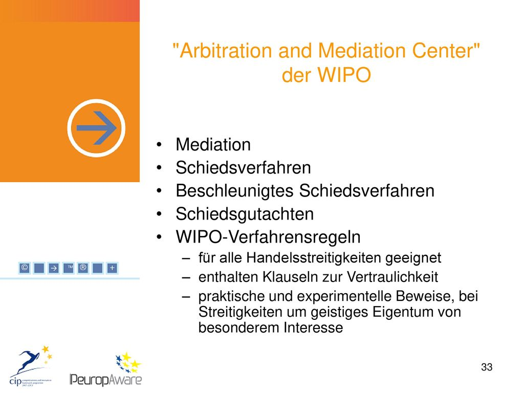 Arbitration and Mediation Center der WIPO
