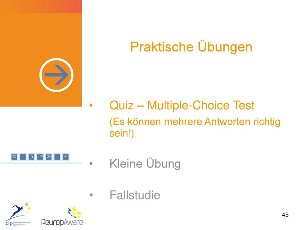 Praktische Übungen Quiz – Multiple-Choice Test