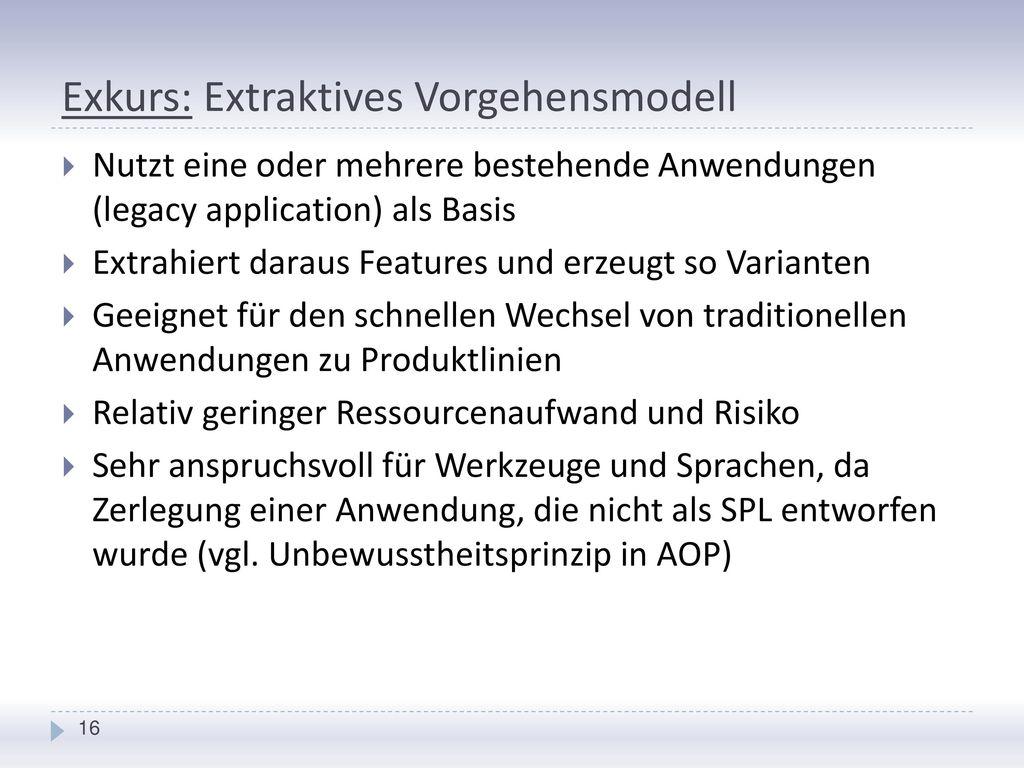 Exkurs: Extraktives Vorgehensmodell