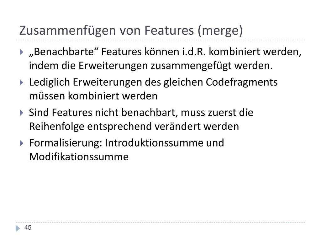 Zusammenfügen von Features (merge)