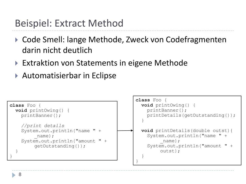 Beispiel: Extract Method