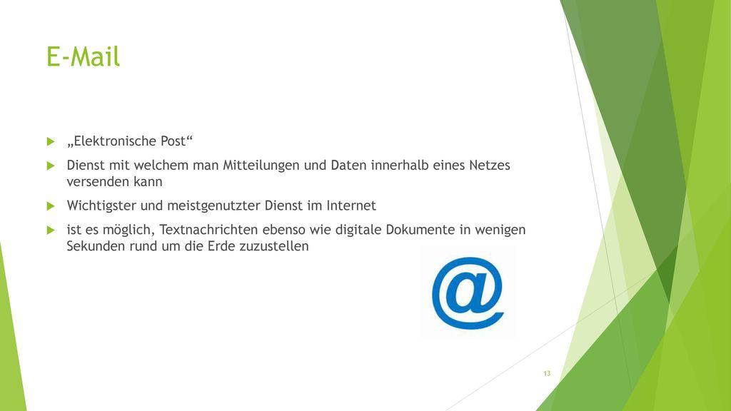 """E-Mail """"Elektronische Post"""