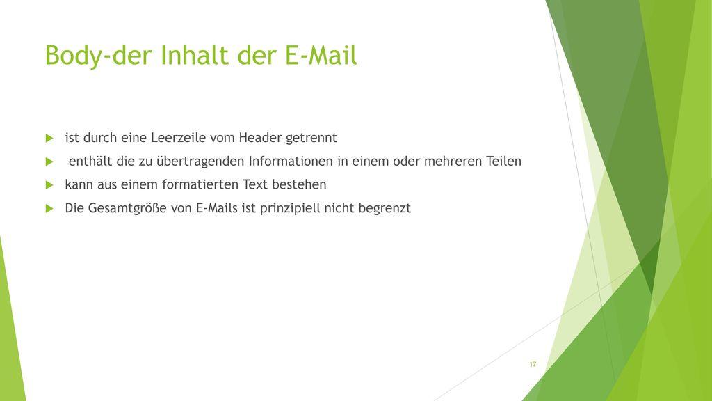 Body-der Inhalt der E-Mail