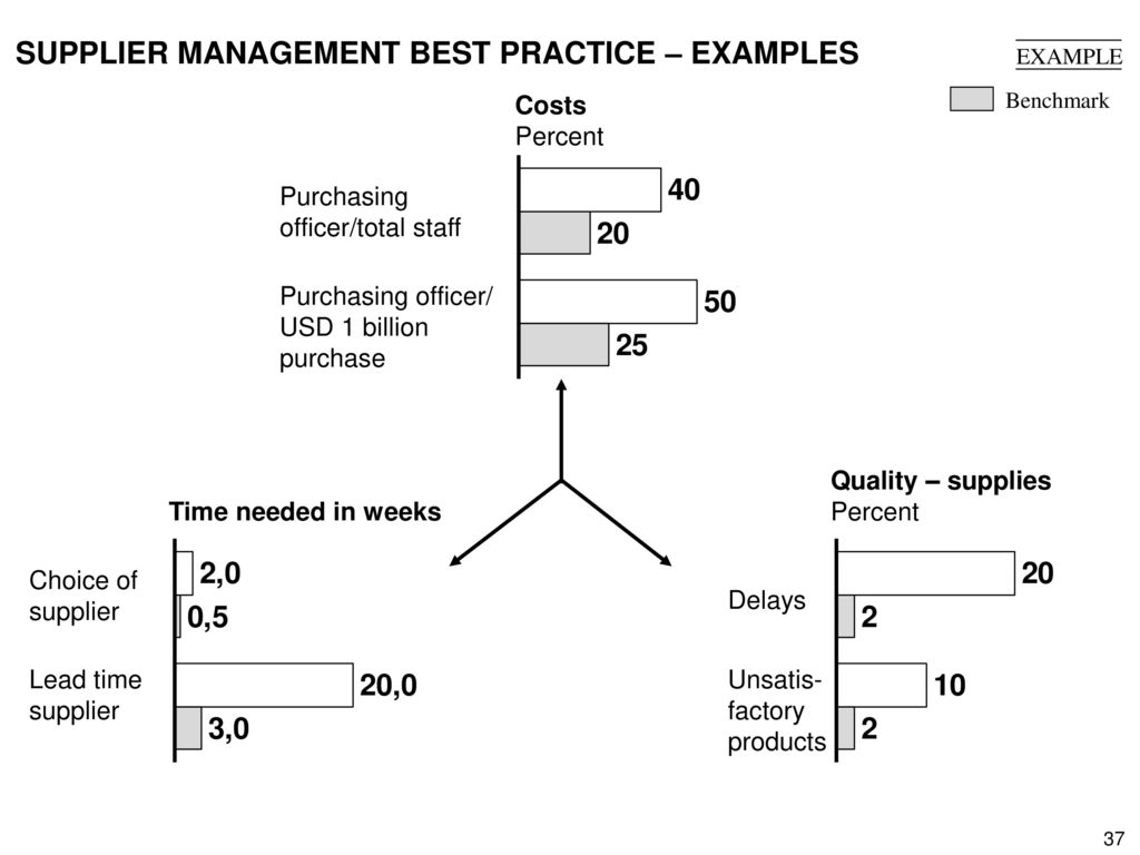 SUPPLIER MANAGEMENT BEST PRACTICE – EXAMPLES