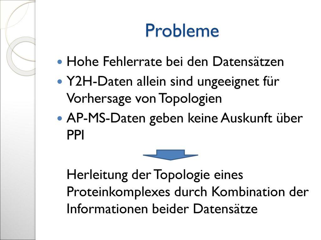 Probleme Hohe Fehlerrate bei den Datensätzen