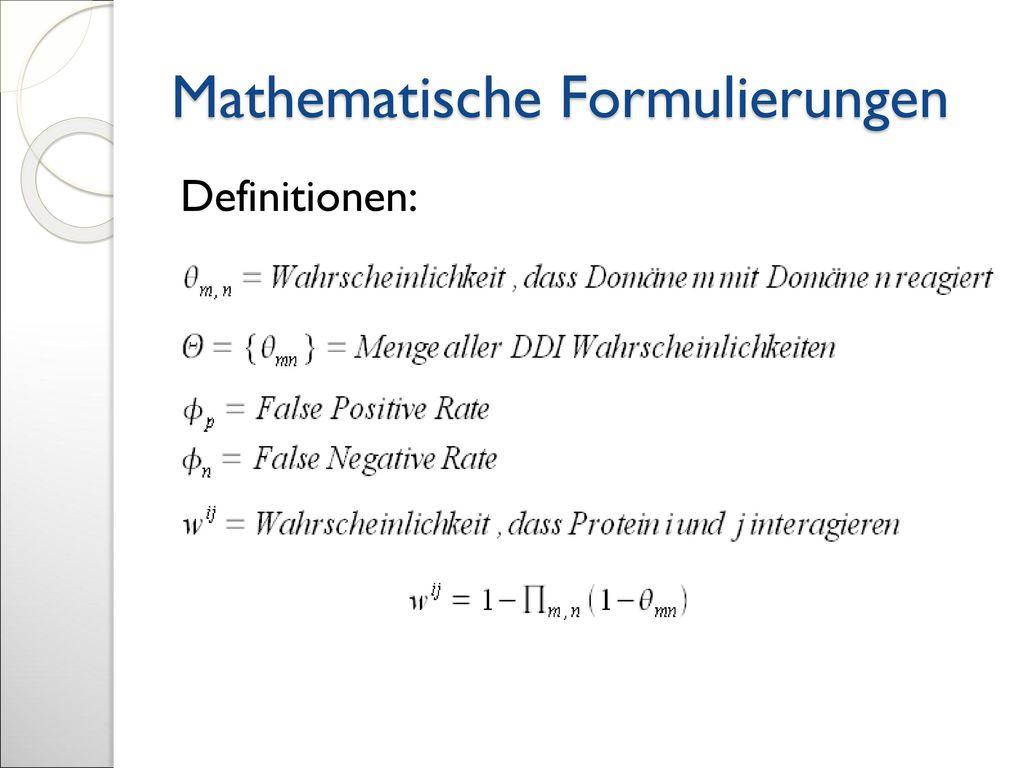 Mathematische Formulierungen