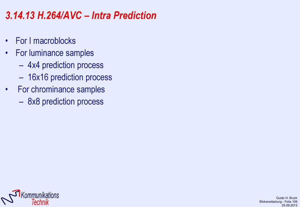 3.14.13 H.264/AVC – Intra Prediction
