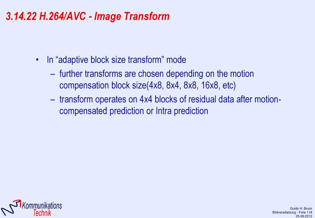 3.14.22 H.264/AVC - Image Transform