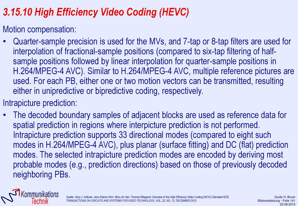 3.15.10 High Efficiency Video Coding (HEVC)