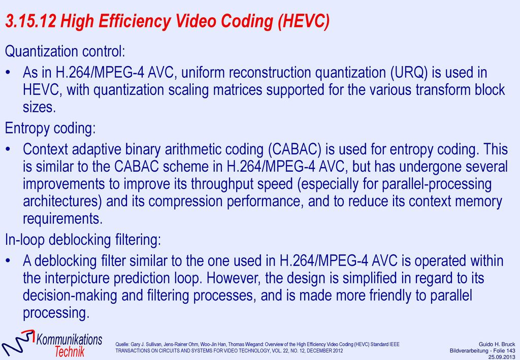 3.15.12 High Efficiency Video Coding (HEVC)