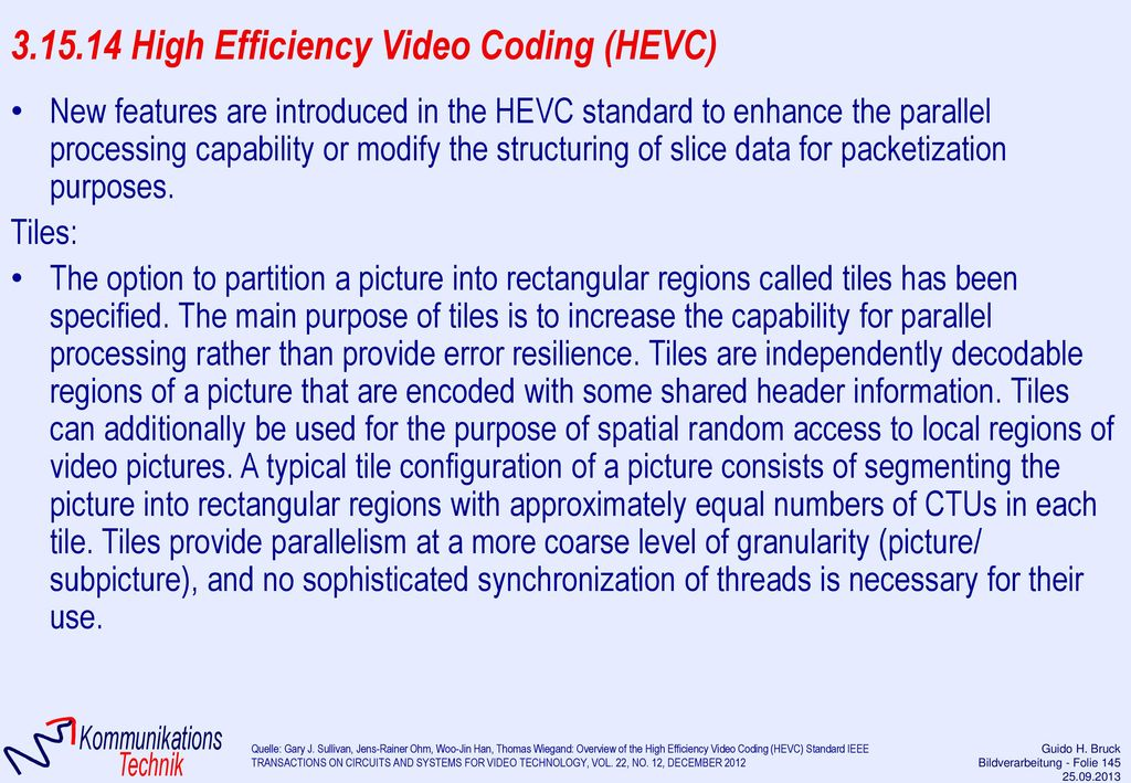 3.15.14 High Efficiency Video Coding (HEVC)