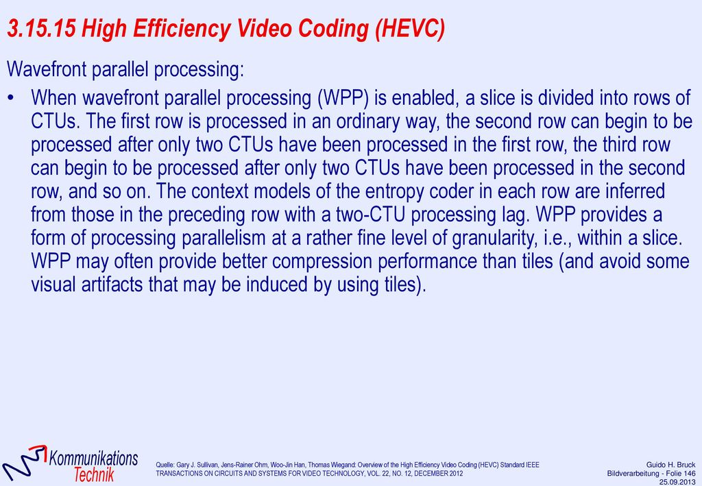 3.15.15 High Efficiency Video Coding (HEVC)