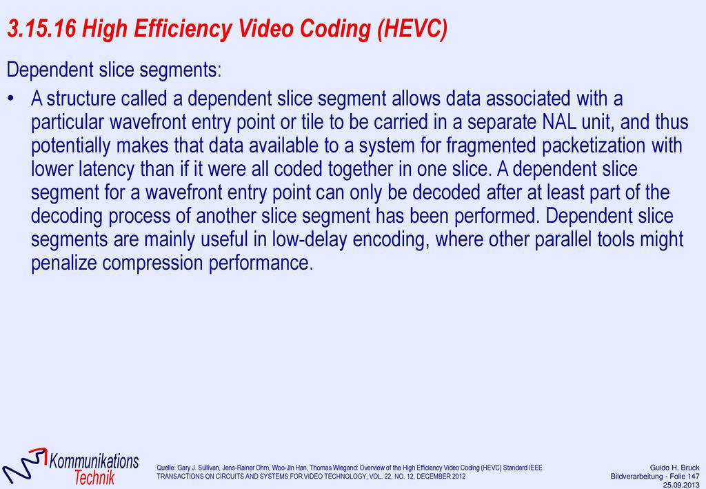 3.15.16 High Efficiency Video Coding (HEVC)
