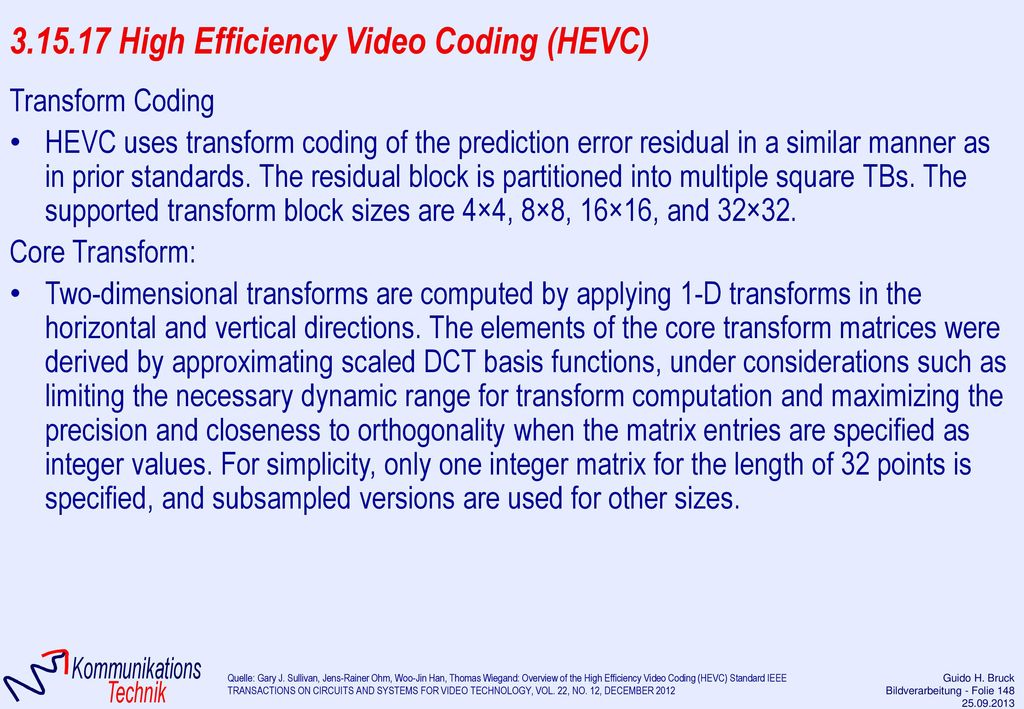 3.15.17 High Efficiency Video Coding (HEVC)