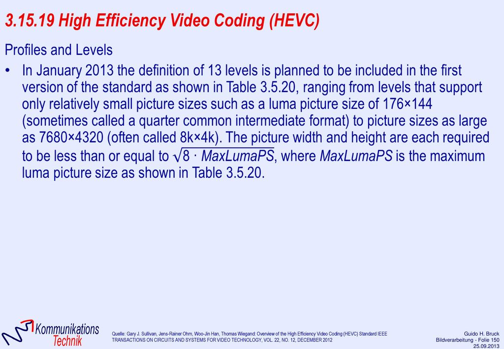 3.15.19 High Efficiency Video Coding (HEVC)
