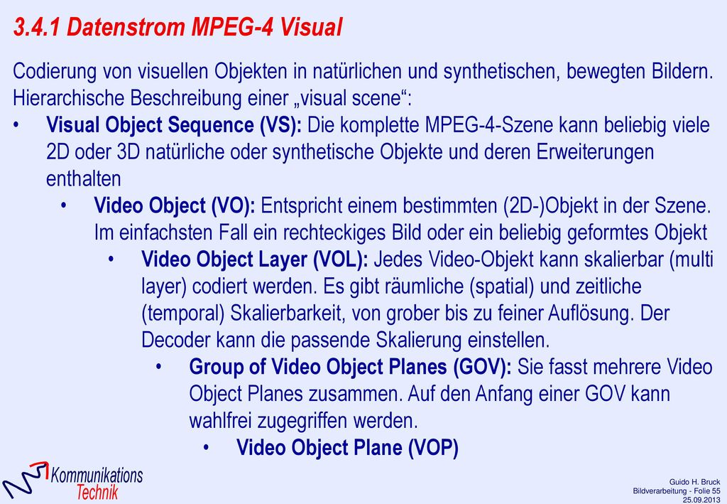 3.4.1 Datenstrom MPEG-4 Visual