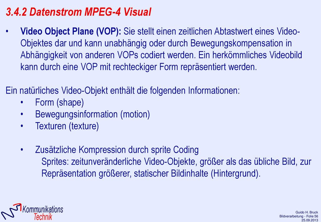 3.4.2 Datenstrom MPEG-4 Visual