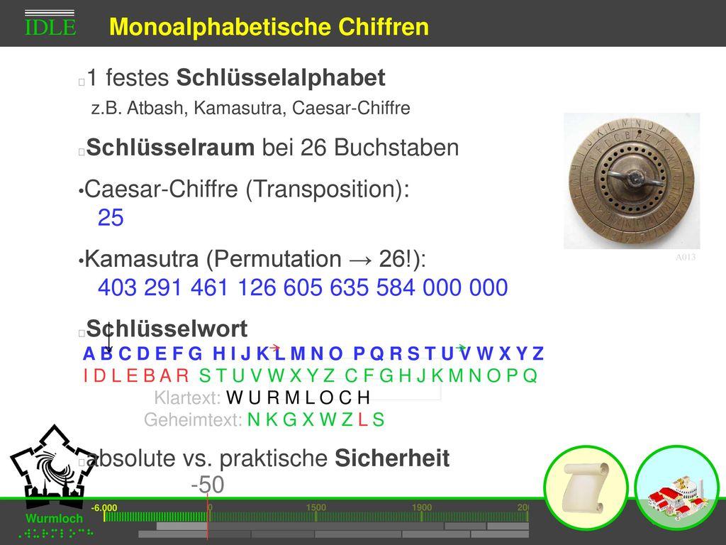 Monoalphabetische Chiffren
