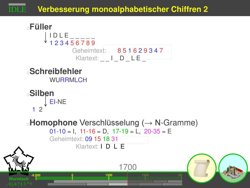 Verbesserung monoalphabetischer Chiffren 2