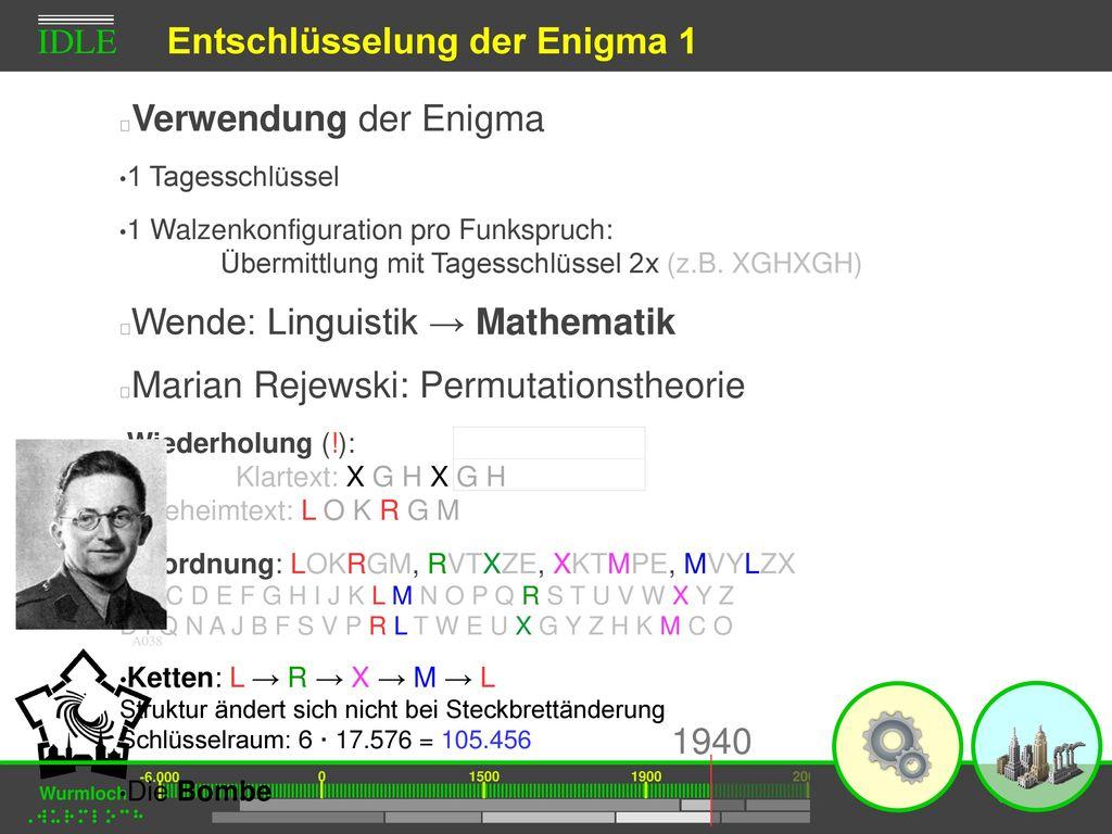 Entschlüsselung der Enigma 1