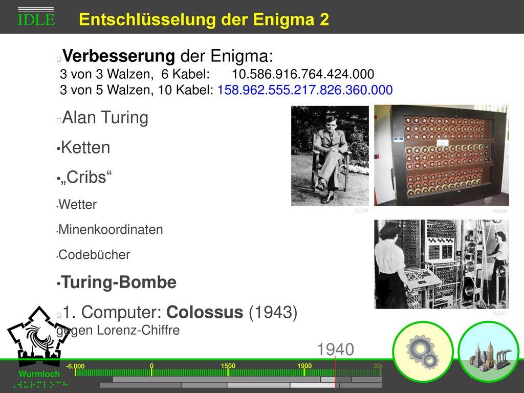 Entschlüsselung der Enigma 2