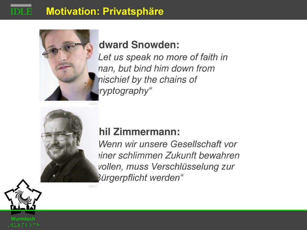 Motivation: Privatsphäre