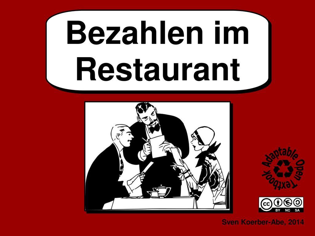Bezahlen im Restaurant