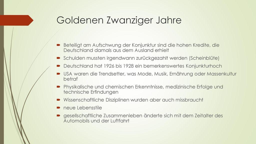 Goldenen Zwanziger Jahre