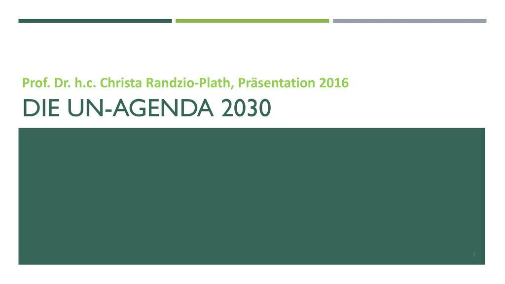 Prof. Dr. h.c. Christa Randzio-Plath, Präsentation 2016