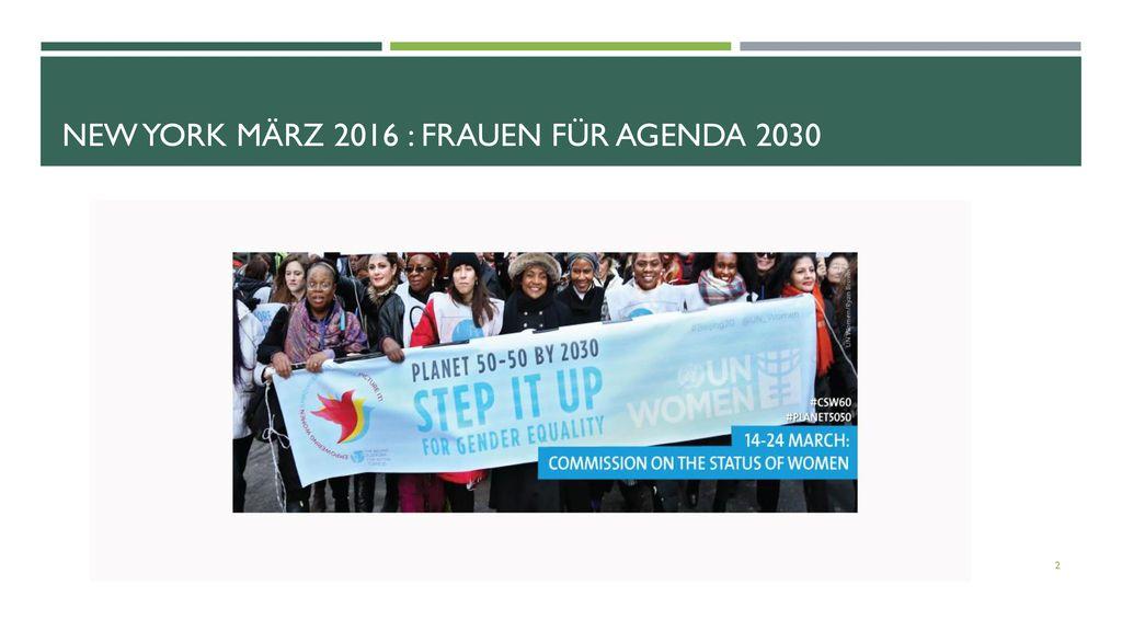 New York März 2016 : Frauen für Agenda 2030