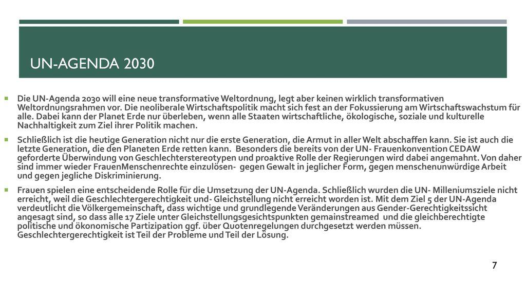 UN-Agenda 2030