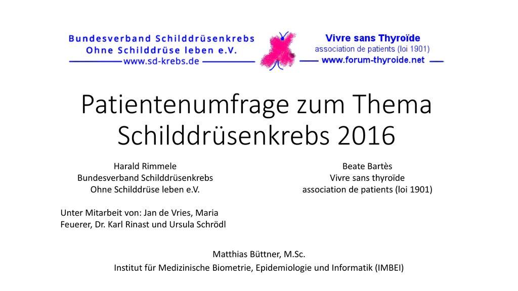 Patientenumfrage zum Thema Schilddrüsenkrebs 2016