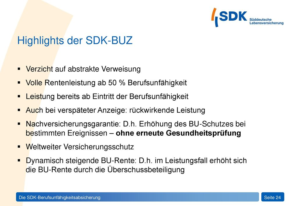Highlights der SDK-BUZ