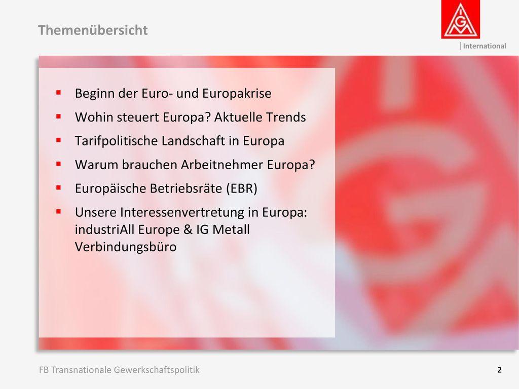 Themenübersicht Beginn der Euro- und Europakrise