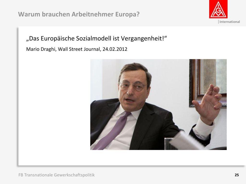 Warum brauchen Arbeitnehmer Europa