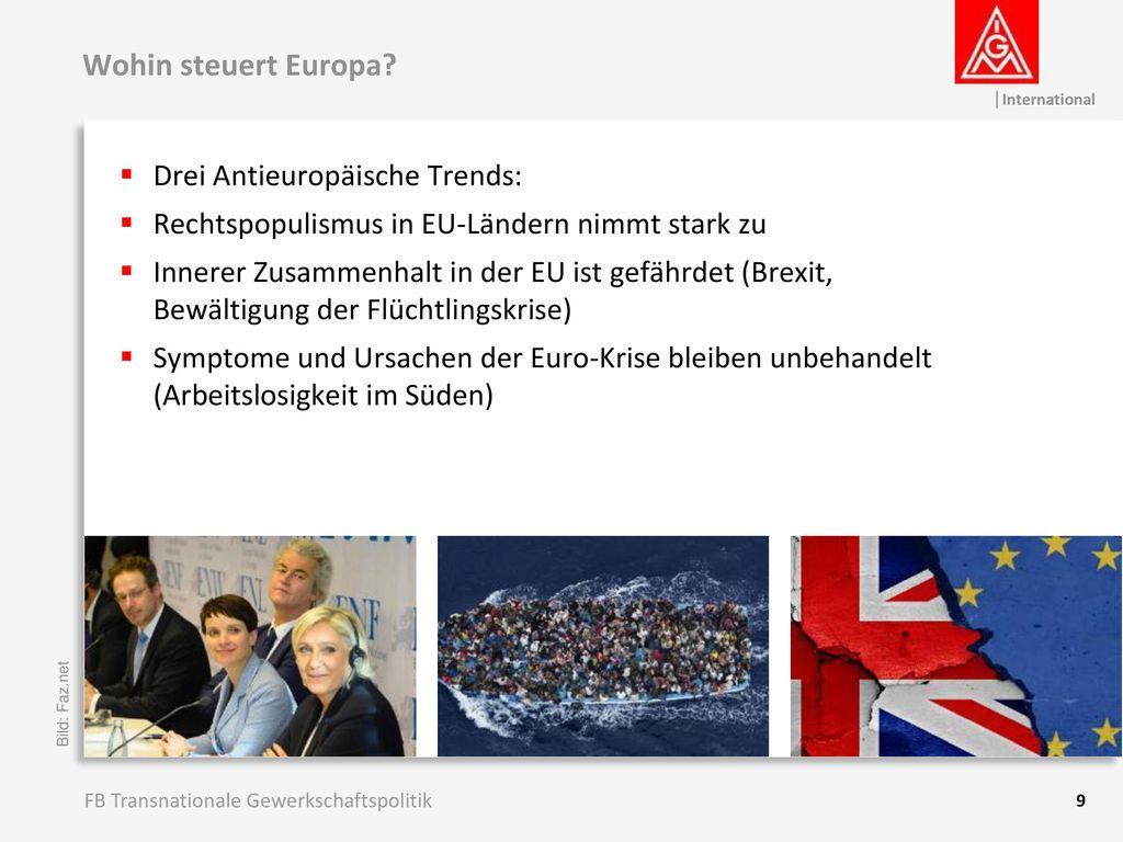 Wohin steuert Europa Drei Antieuropäische Trends:
