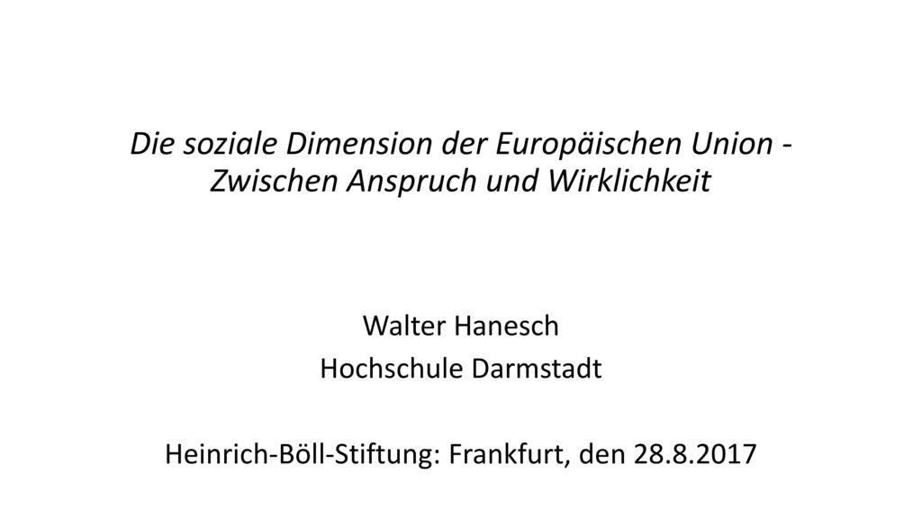 Heinrich-Böll-Stiftung: Frankfurt, den 28.8.2017