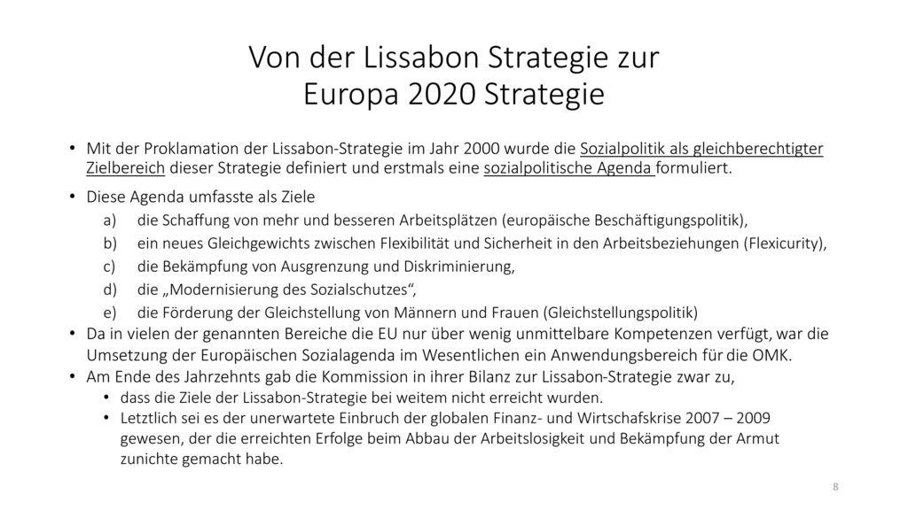 Von der Lissabon Strategie zur Europa 2020 Strategie