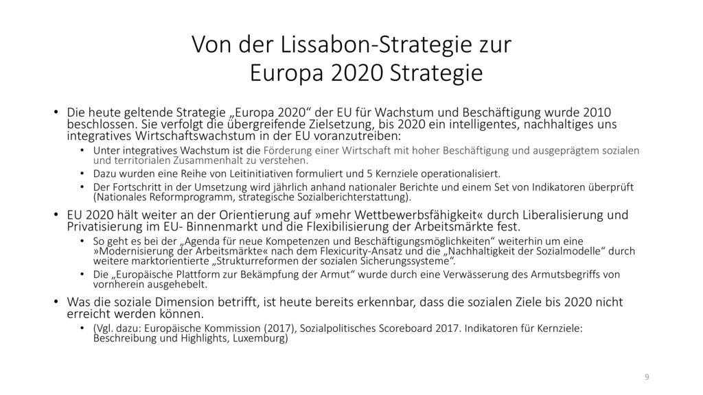 Von der Lissabon-Strategie zur Europa 2020 Strategie
